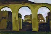 Вид на Колизей сквозь аркаду базилики Константина - Коро, Жан-Батист Камиль