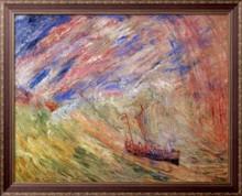 Христос успокаивает бурю, 1891 - Энсор, Джеймс