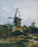 Ветряная мельница (Le Moulin de Blute Fin), 1886 - Гог, Винсент ван