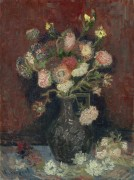 Ваза с китайскими астрами и гладиолусами (Vase with Chinese Asters and Gladioli), 1886 - Гог, Винсент ван