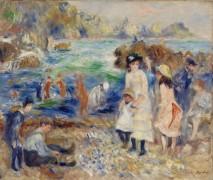 Дети на берегу залива в Гернси - Ренуар, Пьер Огюст