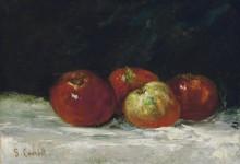 Красные яблоки - Курбе, Гюстав