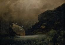 Горное озеро с чайками - Бёклин, Арнольд