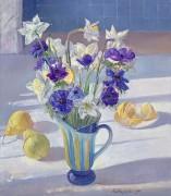 Весенние цветы и лимоны