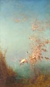 Стая фламинго, взмывающая в небо -  Зим, Феликс