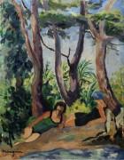 Две купальщицы под деревьями - Манген, Анри