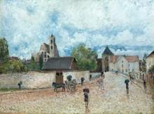 Море-сюр-Луан, дождь, 1887-88 - Сислей, Альфред