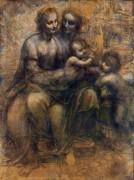 Мадонна с Младенцем со святой Анной и маленьким Иоанном Крестителем - Винчи, Леонардо да
