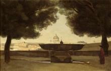 Фонтан на вилле Медичи, Рим - Коро, Жан-Батист Камиль