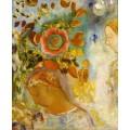 Две девушки среди цветов - Редон, Одилон