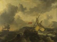 Английское судно и военный корабль в море - Бакхейзен, Людольф