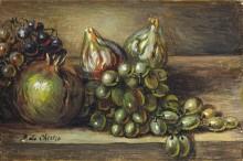 Натюрморт с фруктами на столе - Кирико, Джорджо де