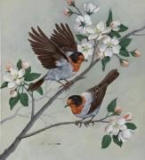 Лесные певуны на цветущей яблоне - Сарноф, Артур