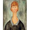 Портрет молодой женщины - Модильяни, Амадео