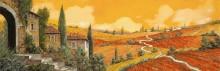 Поля близ Сиены - Борелли, Гвидо (20 век)