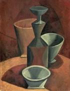 Графин и чашки - Пикассо, Пабло