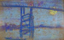 Ноктюрн в синем и золотом. Старый мост в Баттерси - Уистлер, Джеймс Эббот Мак-Нейл