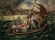 Христос в шторм в море Галилейском - Кирико, Джорджо де