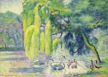 Семья лебедей , 1899-1900 - Кросс, Анри Эдмон