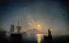 Вид на Неаполитанский залив лунной ночью - Айвазовский, Иван Константинович