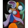 Женщина с цветком, 1932 - Пикассо, Пабло