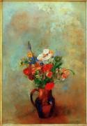 Маки и другие цветы в кувшине - Редон, Одилон