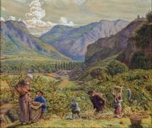 Сбор урожая яблок в долине Рейна - Хант, Уильям Холман