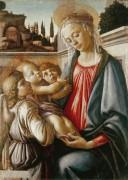 Мадонна с Младенцем и ангелами - Боттичелли, Сандро