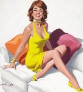 Рыжеволосая девушка в желтом платье - Сарноф, Артур