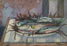 Натюрморт с рыбой - Манген, Анри