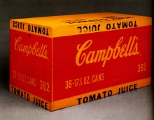 Томатный сок Кэмпбэлл  (Boîte de jus de tomate Campbell's), 1964 - Уорхол, Энди