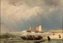 Рыбаки на берегу в надвигающийся шторм - Куккук, Ян Херманус