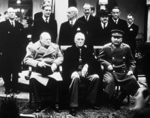 Сталин, Черчилль и Рузвельт в  Ялте
