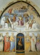 Святая Троица с шестью святыми бенедиктинцами и шестью другими святыми - Рафаэль, Санти