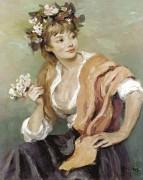 Женщина с цветами - Диф, Марсель