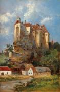 Пейзаж с замком Рабс - Хорман, Теодор фон