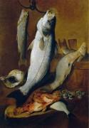 Натюрморт из рыбы - Руопполо, Джованни Баттиста