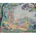 Пейзаж с молодой девушкой и девочками, 1906 - Лебаск, Анри