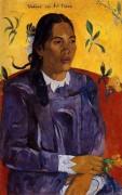 Женщина с цветком, 1891 - Гоген, Поль