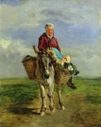 Крестьянка верхом на осле - Труайон, Констан