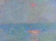 Мост Ватерлоо, затуманенное солнце, 1899-1901 - Моне, Клод