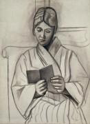 Ольга, читающая книгу - Пикассо, Пабло
