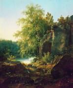 Вид на острове Валааме (этюд), 1858 - Шишкин, Иван Иванович