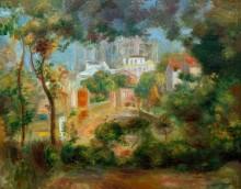 Пейзаж с видом на Сакр-Кёр, Париж - Ренуар, Пьер Огюст
