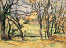 Деревья и дома близ Жа де Буффан - Сезанн, Поль