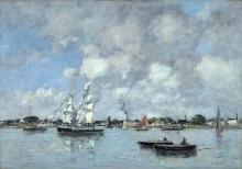 Лодки и парусники на Гаронне - Буден, Эжен