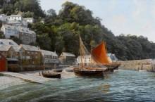 Рыбацкие лодки в Кловелли, Северный Девон - Дьюз, Джон Стивен