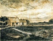 Сарай с крышей, покрытой мхом (Barn with Moss-Covered Roof), 1881 - Гог, Винсент ван