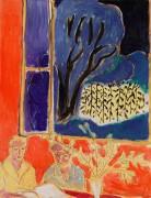Две девушки в коралловой комнате. Синий сад - Матисс, Анри