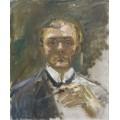 Автопортрет с поднятой рукой - Бекман, Макс